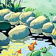 Mural Detail, Frog