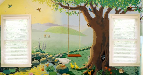 Swing and Pond Mural