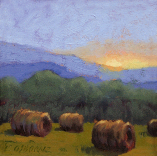 Study for Hayrolls & Mountains
