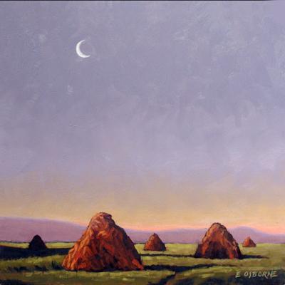 Moon & Haystacks